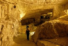 Zedekiah's Cave, also Solomon's Quarries, is a 5-acre (20,000 m2) underground meleke limestone quarry that runs the length of five city blocks under the Muslim Quarter of the Old City of Jerusalem. It was carved over a period of several thousand years and is a remnant of the largest quarry in Jerusalem, stretching from Jeremiah's Grotto and the Garden Tomb to the walls of the Old City.