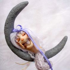 OOAK art doll fairy faerie fae Silver Moon Mermaid troll by KDL