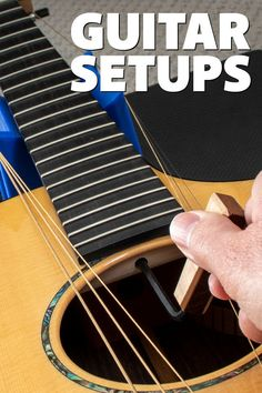 "Learn what a ""guitar setup"" is and how vital it is to getting your guitar to play, sound, and feel its best. Includes resources to help you learn how to do acoustic, electric, and locking tremolo setups. Guitar Tips, Keep It Cleaner, Acoustic, Electric, Guy, Building, Blog, Handmade, Guitars"