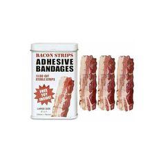 OMG - bacon bandaids!