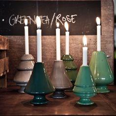 Avvento Candle Stick Gray Mini - Marianne Nielsen - Kähler - RoyalDesign.com