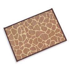 Giraffe Bamboo Placemat - Bed Bath & Beyond  .99c ea