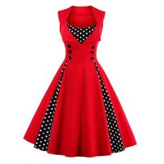 SHARE & Get it FREE | Retro Button Embellished Polka Dot DressFor Fashion Lovers only:80,000+ Items • FREE SHIPPING Join Nastydress: Get YOUR $50 NOW!