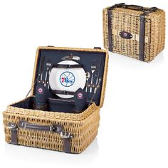 Philadelphia 76ers Picnic Basket With Service For 2