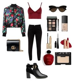 """#44"" by maksimchuk-vika ❤ liked on Polyvore featuring MSGM, Ted Baker, Lipsy, Gucci, Bobbi Brown Cosmetics, NARS Cosmetics, Satine, Givenchy and Stila"