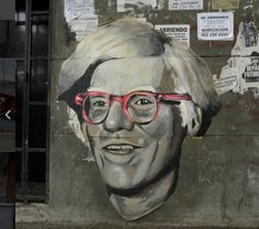 """Portrait of """"Andy Warhol"""" in Medellín, Colombia"""