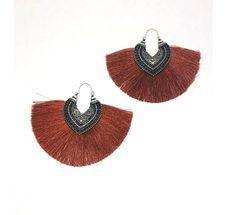 Boucle d/'oreille pour femme africaine 3 Couleurs Rouge Vert Couleur Brun Boucles d/'oreilles qualité bois