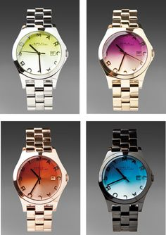 Marc by Marc Jacobs. Lovin the purple face with the rose gold band