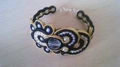 Badi / soutache náramok Bracelets, Gold, Jewelry, Fashion, Moda, Jewlery, Jewerly, Fashion Styles, Schmuck