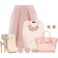 Blushing Beauty. by laaudra-rasco on Polyvore featuring мода, Temperley London, Charlotte Russe, Coach, Lipsy and Linda Farrow