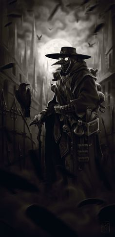 Plague Doctor - fantasy character concept by Lucas St. Martin