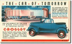 The Car of Tomorrow – Crolsey, Printed by Crosley