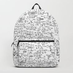 Physics Equations in Blue Pen Backpack by thinlinetextiles Cute Mini Backpacks, Stylish Backpacks, Girl Backpacks, School Backpacks, Leather Backpacks, Leather Bags, Backpack For Teens, Backpack Bags, Messenger Bags