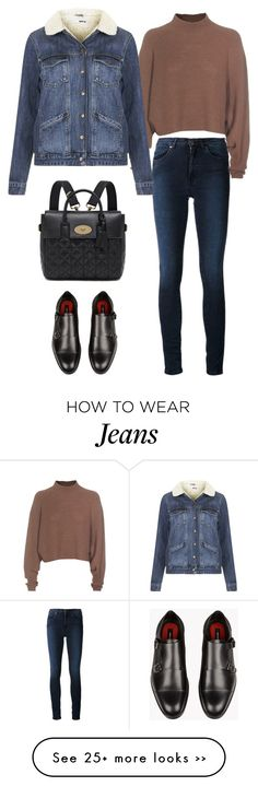 """Acne Studios High-waisted Skinny Jeans"" by junglover on Polyvore featuring moda, Acne Studios, Topshop e Mulberry"