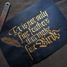 Gold gouache on Black paper. . . . #calligrafia #handmade #handmadefont #handlettering #typespire #calligraphy #calligraphymasters #typography #goodtype #strengthinletters #artoftype #thedailytype #typematters #typegang #typographyinspired #lettering #script #sachinspiration #designspiration