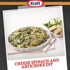 Make restaurant-style Cheesy Spinach and Artichoke Dip using this flavorful and affordable Kraft® recipe.