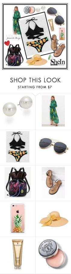 """Pineapple Wrap Bikini Set"" by edin-levic ❤ liked on Polyvore featuring AK Anne Klein, The Casery, Sensi Studio, Elizabeth Arden and Bobbi Brown Cosmetics"