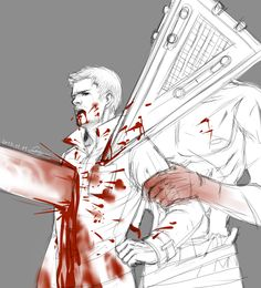 Alex Shepard and Pyramid Head - SH:Homecoming Pyramid Head, Horror Video Games, Silent Hill, Resident Evil, New Age, Horror Movies, Game Art, Art Reference, Homecoming