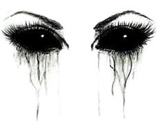 Imagem de eyes, cry, and drawing