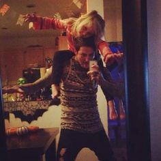 The last photo Mitch Lucker ever took with his daughter.