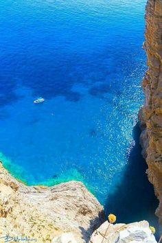 "The beautiful deep blue of Amorgos island!!! ""Wonderful Greece"""