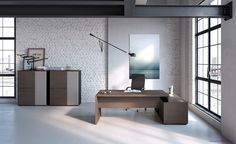 Modern Office Furniture Render