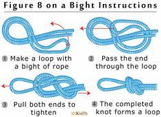 Figure 8 on a Bight Knot Instructions   101 Knots