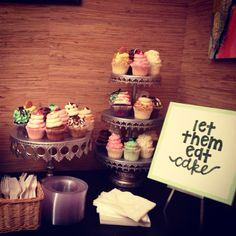 "Wedding Cupcakes by Gigi's of Savannah! ""Let them eat cake"" design by @Brianne Baggett!"
