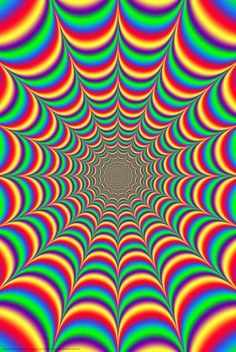 So #colorful and alive it ... A Fractal Illusion  #Optical #Illusions #ShermanFinancialGroup