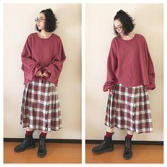 316 отметок «Нравится», 1 комментариев — 麻絵 (@asaesan) в Instagram: «http://wear.jp/asaesannn/ #麻絵服 #jins #merlot #merlotplus #beams #beamsboy #tabio #靴下屋 #drmartens…»