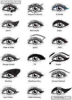 макияж глаз - стрелки