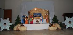 Nativity, stage at Dr Saul Center Dr Saul, Nativity, Stage, Christmas, Painting, Art, Xmas, Art Background, Weihnachten