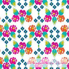 Ikat Roses - http://www.annelinesophiadesigns.com