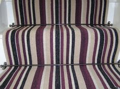Discount Carpet Runners For Hall Product Best Carpet For Stairs, Striped Carpet Stairs, Striped Carpets, Carpet Staircase, Bedroom Carpet, Living Room Carpet, Blue Geometric Wallpaper, Stair Runner Installation, Indoor Outdoor Carpet