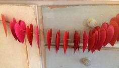 {DIY} Valentine's Day Heart Garland Tutorial | Oh Lovely Day Heart Garland, Heart Wreath, Creative Gift Wrapping, Creative Gifts, Valentines Day Hearts, Valentines Diy, Love Coupons, Valentine's Day Diy, Cool Fonts