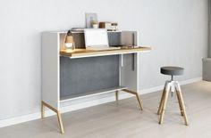Related image Design Shop, Home Office, Office Desk, Diy Furniture, Furniture Design, Kids Workspace, Desk In Living Room, Secretary Desks, Wood Desk
