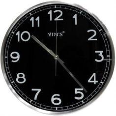Relógio de Parede Yins YI15081 Preto 30cm - Megazim