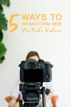 Stumped when coming up with new YouTube video ideas? Use these tips to brainstorm more creative & original idea! | @Bloguettes