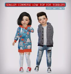 dreamteamsims, Semller Converse Low Top for Toddlers 13 swatches...