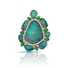 Rosamaria G Frangini | High Blue Jewellery | Pamela Huizenga - Opal and diamond pendant