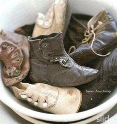 Tiny feet... #VintageBabyShoes #WelcometoNanasHouse