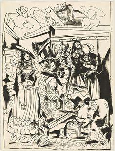DAVID ET BETHSABEE (after Lucas Cranach)  Pablo Picasso, May 29, 1949