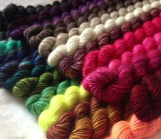 The saying 'good things come in small packages' rang true when a tiny box of delights arrived at Loop the other week. You certainly know what huge fans we are of Madelinetosh's sumptuous colours an… Madeline Tosh, Unicorn Tail, Hand Dyed Yarn, Yarn Needle, Fiber Art, Lana, Knit Crochet, Crafty, Wool