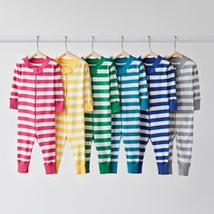 Night Night Baby and Toddler Sleepers In Pure Organic Cotton by Hanna Andersson in Bold Stripes