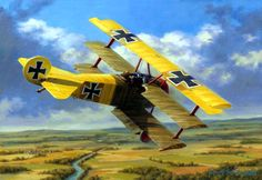 Richthofen the Younger, by Russell Smith (Fokker Dr.I, Lothar von Richthofen) - BFD Best Picture For passenger Aircraft For Your Taste You are looking for something, and it is going to tell you exactl Ww2 Aircraft, Fighter Aircraft, Military Aircraft, Passenger Aircraft, Fokker Dr1, Aircraft Painting, Airplane Art, Vintage Airplanes, World War One