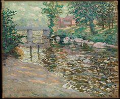 Ernest Lawson (American (born Canada), 1873–1939). The Bronx River, ca. 1910. The Metropolitan Museum of Art, New York. Gift of Mrs. J. Augustus Barnard, 1979 (1979.490.13)