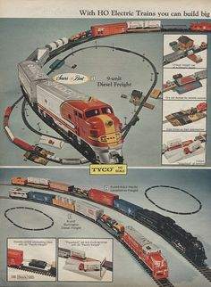 Model Trains in Sears Christmas Wish Book Catalog, 1971, by Wishbook, via Flickr