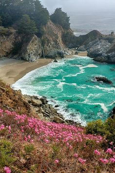 hike to see the view at mcway falls, big sur, california