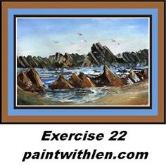Paint Rocks and Ocean – painting lessons Painting Lessons, Artist Painting, Painting Techniques, Art Lessons, Painting & Drawing, Painting Tips, Acrylic Painting For Beginners, Acrylic Painting Tutorials, Beginner Painting