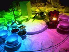 RAINBOW WEDDING RECEPTIONS | rainbow wedding decorations source weddingsonthefrenchriviera com